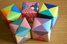 Origami Cube Tutorial: great way to teach math concepts (fractions, shapes, ratios etc)