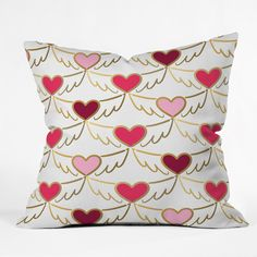 Lisa Argyropoulos Golden Wings of Love White Throw Pillow | DENY Designs Home Accessories