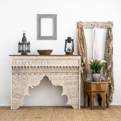 Handcrafted from sustainable mango wood. Coffee Table Nz, Coffee Table With Drawers, Moroccan Lanterns, Moroccan Decor, Blue Bedside Tables, White Washed Furniture, Art Deco Mirror, Light Decorations, Furniture Making