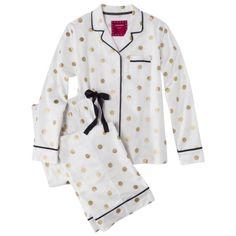 Adorable PJs from target. I want! Xhilaration® Junior's Pajama Set - White