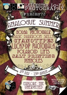 Analogue Summer 2015 leaflet