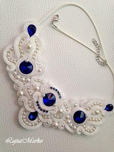 Wire Jewelry, Beaded Jewelry, Jewelery, Jewelry Necklaces, Soutache Necklace, Earrings, Handmade Necklaces, Handmade Jewelry, Wedding Jewelry