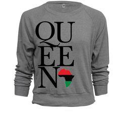 BLACK QUEEN GREY UNISEX SWEATSHIRT ($40) ❤ liked on Polyvore featuring tops, hoodies and sweatshirts
