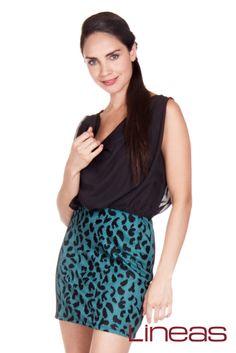 Vestido, Modelo 18506. Precio $250 MXN #Lineas #outfit #moda #tendencias #2014 #ropa #prendas #estilo #primavera #vestido