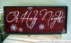 Inspired Passions: Pottery Barn Christmas Sign Knockoff  --  If you have an electronic die cut machine or are talented with a paint brush this sign wouldn't be hard at all.