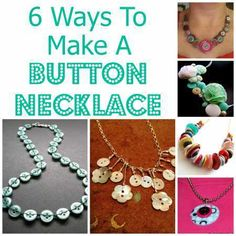 6 ways to make a button necklace                                                                                                                                                                                 More