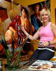 The artist Catherine Abel