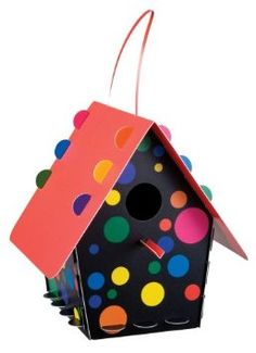 Polka Dots Bird House-I really like the funky colors of this birdhouse and also that it's made out of recycled plastic.