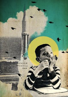Rhed Fawell - 'Calculating Escape Velocity' Collage 2014