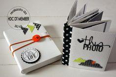 Joli idée de mini et tuto de la boîte ici : http://hobby-di-carta.blogspot.de/2014/07/mini-album-hello-life-by-silva.html