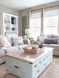 44 Rustic Farmhouse Living Room Design and Decor Ideas