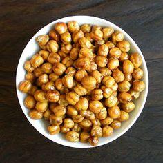Roasted Chickpeas - Healthy High Fiber Snack Recipe