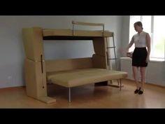 Новинка!  диван трансформер в двухъярусную кровать с 3-мя спальными местами. MebelevaGroup. - YouTube