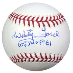 "Whitey Ford Autographed Official MLB Baseball New York Yankees """"WS MVP 61"""" PSA/DNA Stock #14887"