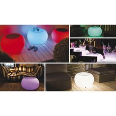 Beistelltisch Bubble Outdoor LED (Multicolour/E27)