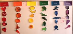 learning colors. Using this as a busy/travel bag for the cookie sheet