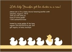 Duck Parade Yellow Baby Shower Invitation