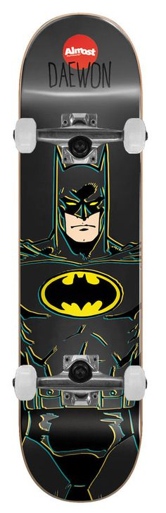 ALMOST Skateboard Complete BATMAN YOUTH SONG 7' DC COMICS COLLABORATION ReadyTo #ALMOST
