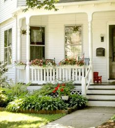 65 stunning farmhouse porch railing decor ideas (13)