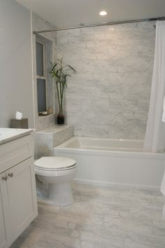small-marble-bathroom-broadway-project-modern-craft-construction-inc - The world's most private search engine Bathroom Design Small, Bathroom Interior Design, Modern Bathroom, Small Full Bathroom, Modern Shower, Rustic Bathrooms, Bad Inspiration, Bathroom Inspiration, Pinterest Bathroom