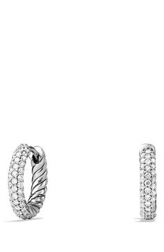 Free shipping and returns on David Yurman Petite Pavé Earrings with Diamonds at Nordstrom.com. Sterling silver. Pavé diamonds, 0.37 total carat weight. Earring, 15mm long. By David Yurman; imported.