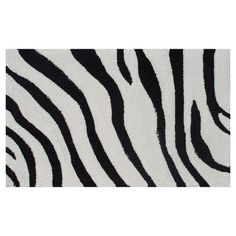 "I pinned this Zebra 1'4"" x 2'3"" Rug in Black from the Welcoming Accents event at Joss and Main!#josscontest"