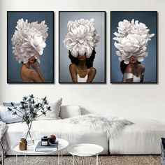 Give any open wall in your home a tasteful touch of glamour with this painting print. This showcases a contemporary design featuring both women and flowers. Framed Canvas Prints, Canvas Frame, Framed Art, Open Wall, Clock Decor, Wall Art Pictures, Floating Frame, Home Office Decor, Elegant Woman