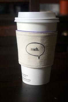 coffee paper cup sleeve | sewtara | meh