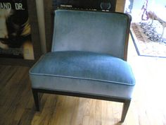 ice blue velvet chair by jm3, via Flickr