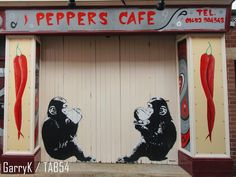 Urban Art a la cARTe: Street Art by Beastie (3) - Peppers Cafe Art Uk, Gloucester, Urban Art, Animal Kingdom, Street Art, Animals, Cards, City Art, Animales