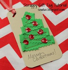 Sew Lux Fabric and Gifts Blog: Scrappy Gift Tag Tutorial