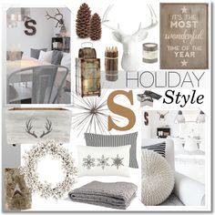 Country Holiday Style by kimberley-wright on Polyvore featuring interior, interiors, interior design, home, home decor, interior decorating, in2green, Marimekko, Pottery Barn and Face to Face