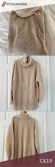 One size fits all. Too large for sizes XS/S. Could be worn as a sweater dress instead. Urban Behavior, Plus Fashion, Fashion Tips, Fashion Trends, Turtlenecks, One Size Fits All, Cowl, Sweaters For Women, Knitting