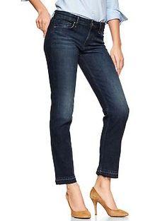 1969 raw-edge real straight skimmer jeans | Gap