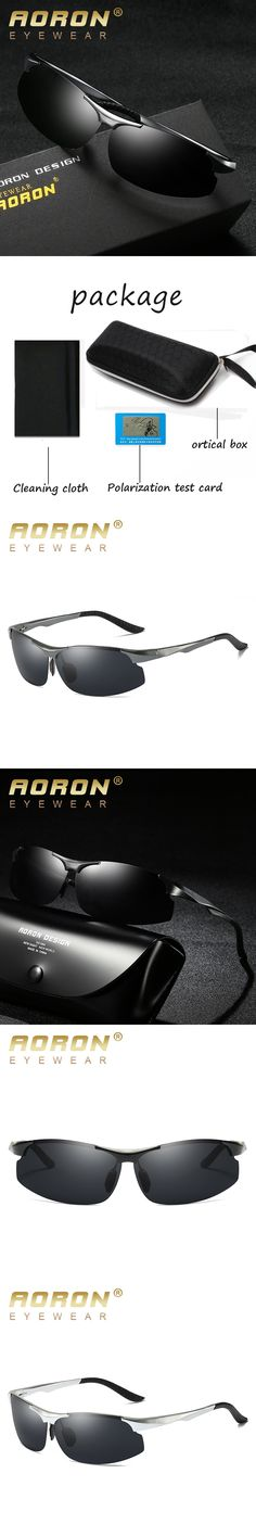 AORON Brand Aluminum Men's Polarized Sunglasses Mirror Female Eyewears Unisex Accessories Sun glasses For Men gafas de sol 8003
