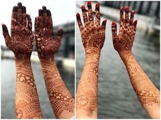 When your bride sends you this snap of the stain less than a day after she's scraped off her paste. Can't imagine how much darker its possible gonna get. Latest Bridal Mehndi Designs, Stylish Mehndi Designs, Dulhan Mehndi Designs, Mehndi Design Pictures, Wedding Mehndi Designs, Beautiful Henna Designs, Beautiful Mehndi, Mehndi Images, Henna Mehndi