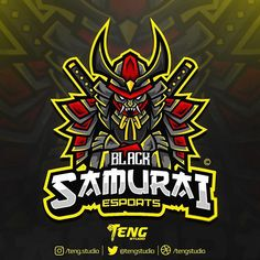 • Black Samurai 🇮🇩 • Esports / Sports Logo Mascot Design 💼Worldwide Project Hire us if you need great logos Available for commision work 📩…
