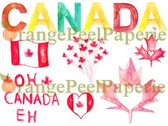 A personal favorite from my Etsy shop https://www.etsy.com/listing/234403909/canada-day-canada-day-clip-art-canada