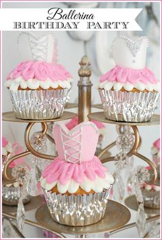 A sweet and simple ballerina girls birthday party with a ballet/nutcracker theme.