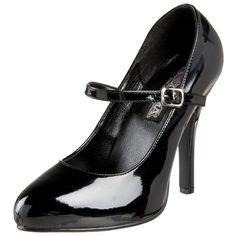Funtasma by Pleaser Women's Arena-50 Mary Jane Pump,Black Patent,7 M US