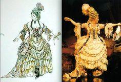 "Phantom of the Opera, Carlotta's ""Il Muto"" costume, (Maria Bjornson)"