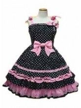 Do you like this Black Polka Dot Bow Cotton Sweet Lolita Dress? It is wonderful