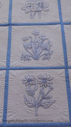 Classic Bluework Embroidery Quilt