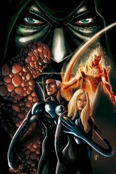 Fantastic Four Color by Riccardo-Fasoli.deviantart.com on @DeviantArt