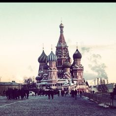 Moscow, The Red Square. March 2012, during Russian Presidential Election