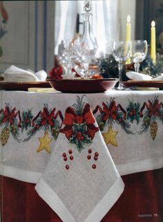 ru / Foto N ° 138 - 184 - Xmas Cross Stitch, Cross Stitch Needles, Cross Stitch Borders, Cross Stitch Embroidery, Cross Stitch Patterns, Christmas Placemats, Christmas Table Cloth, Christmas Decorations, Quilted Table Toppers