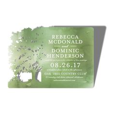 Wooded Silhouette - Signature Laser Cut Wedding Invitations in Emerald or Hazelnut | Alexis Mattox Design