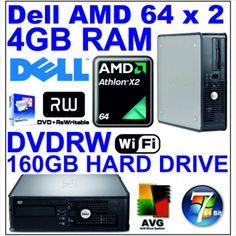 HP Desktop Tower PC Core 2 Duo - 160GB HDD - 4GB RAM - Combo - WIN7