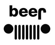 Beer Jeep Logo Decal Pressure sensitive adhesive The harder you press the better it stays! Easy to keep clean Vinyl last years outdoors!