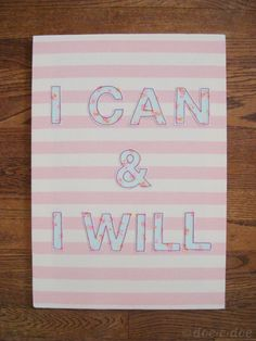 embroidered+I+can+%26+I+will+wall+hanging.jpg (675×900)